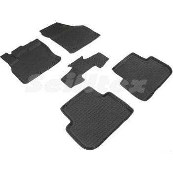 Коврики в салон для Audi Q3 '19- резиновые, черные (Seintex)
