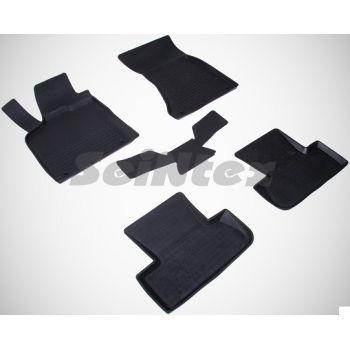 Коврики в салон для Audi Q5 '08-17 резиновые, черные (Seintex)