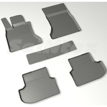 Коврики в салон для BMW 5 F10 / 11 '13-16 резиновые, черные (Seintex)