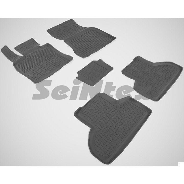 Коврики в салон для BMW X5 F15 '14-18 резиновые, черные (Seintex)