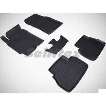 Коврики в салон для Chevrolet Epica '07-12 резиновые, черные (Seintex)