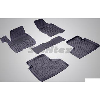 Коврики в салон для Chevrolet Niva '02- резиновые, черные (Seintex)