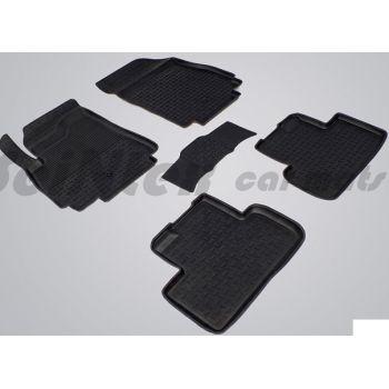Коврики в салон для Chevrolet Orlando '11- резиновые, черные (Seintex)