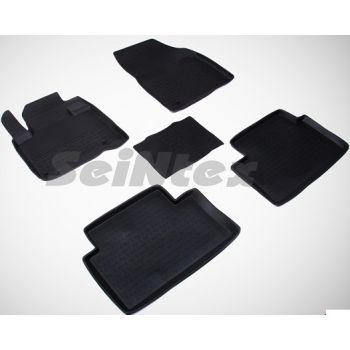 Коврики в салон для Citroen C5 / DS5 '08- резиновые, черные (Seintex)