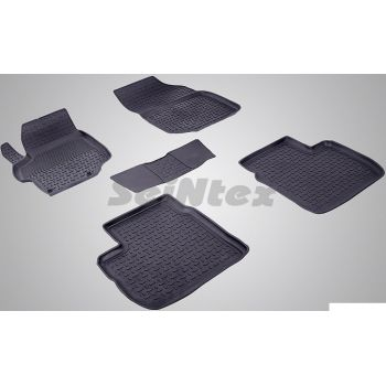 Коврики в салон для Citroen C-Elysee '13- резиновые, черные (Seintex)
