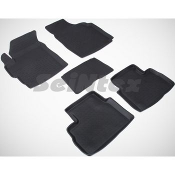 Коврики в салон для Daewoo Matiz '01-15 резиновые, черные (Seintex)