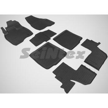 Коврики в салон для Ford Explorer '11- (3.5л) резиновые, черные (Seintex)
