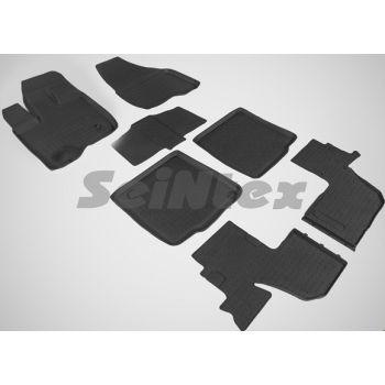 Коврики в салон для Ford Explorer '11- резиновые, черные (Seintex)