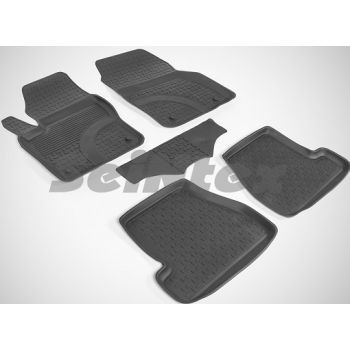 Коврики в салон для Ford Focus 3 '11-18 резиновые, черные (Seintex)