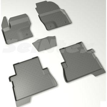 Коврики в салон для Ford Kuga '13- резиновые, черные (Seintex)