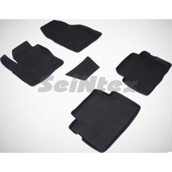 Коврики в салон для Ford C-Max '03-10 резиновые, черные (Seintex)