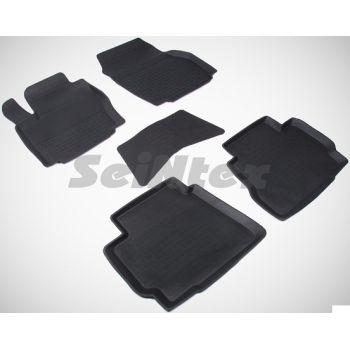 Коврики в салон для Ford Mondeo 4 '07-14 резиновые, черные (Seintex)