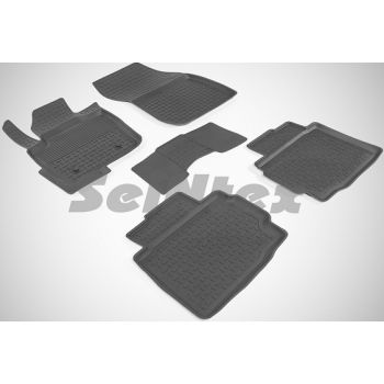 Коврики в салон для Ford Fusion USA 2012- резиновые, черные (Seintex)