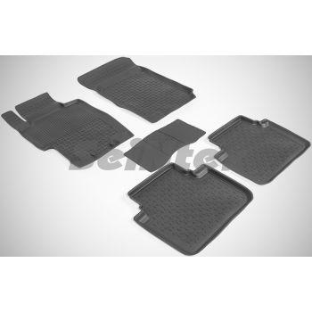 Коврики в салон для Honda Accord 7 '03-08 резиновые, черные (Seintex)