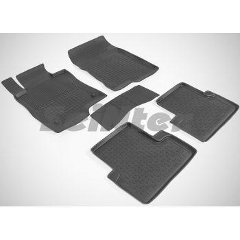 Коврики в салон для Honda Accord 8 '08-13 EUR резиновые, черные (Seintex)