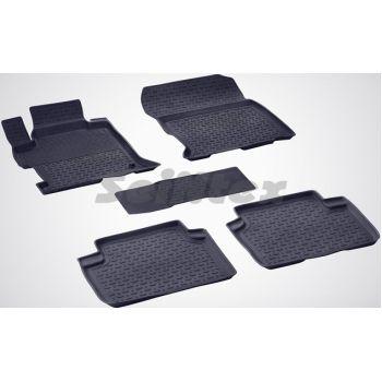 Коврики в салон для Honda Accord 9 '13-17 резиновые, черные (Seintex)