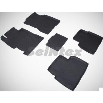 Коврики в салон для Honda Civic 4D '06-12 резиновые, черные (Seintex)