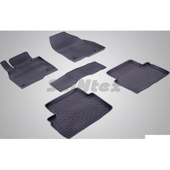 Коврики в салон для Mazda 3 '14-18 резиновые, черные (Seintex)
