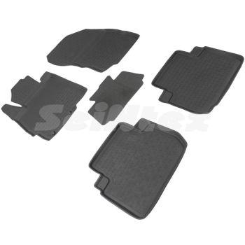 Коврики в салон для Mitsubishi Eclipse Cross '18- резиновые, черные (Seintex)