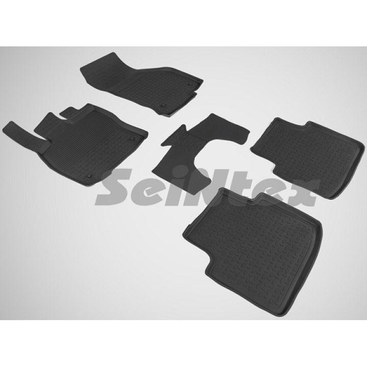 Коврики в салон для Skoda Superb '15- резиновые, черные (Seintex)