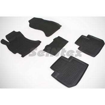Коврики в салон для Subaru Forester '13-18 резиновые, черные (Seintex)