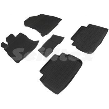 Коврики в салон для Subaru Forester '19- резиновые, черные (Seintex)