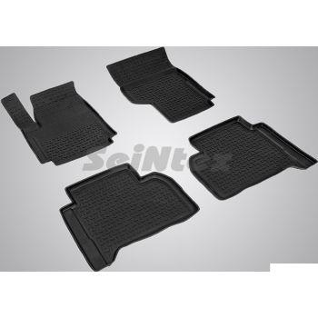 Коврики в салон для Volkswagen Amarok '10- резиновые, черные (Seintex)