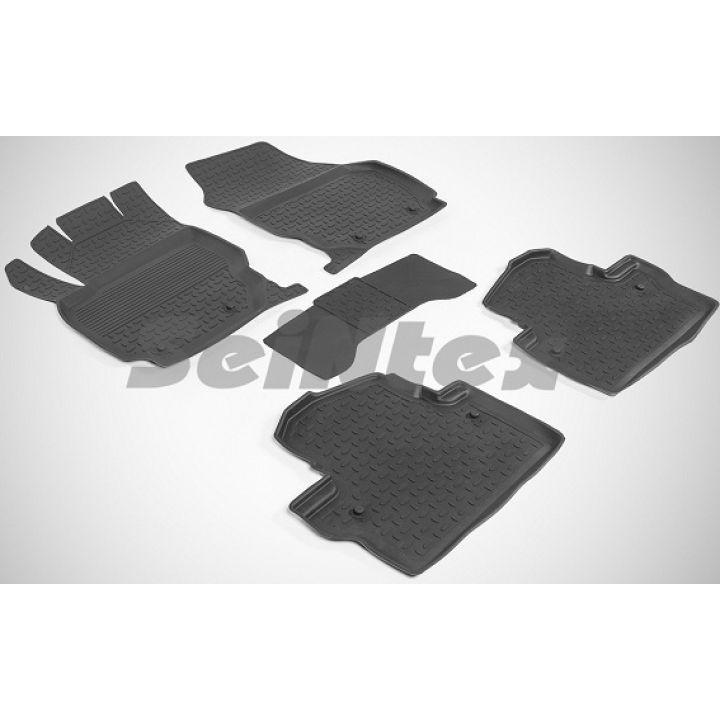 Коврики в салон для Volvo XC70 '07-16 резиновые, черные (Seintex)