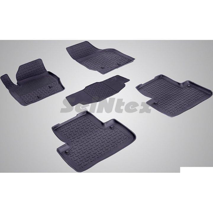 Коврики в салон для Volvo XC90 '03-14 резиновые, черные (Seintex)