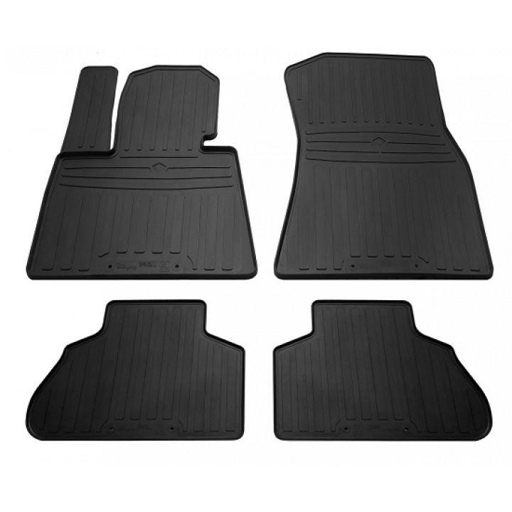 Коврики в салон для BMW X6 G06 '19-, резиновые черные  (Stingray)