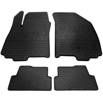 Коврики в салон для Chevrolet Aveo (T300) 2011-, резиновые черные  (Stingray)
