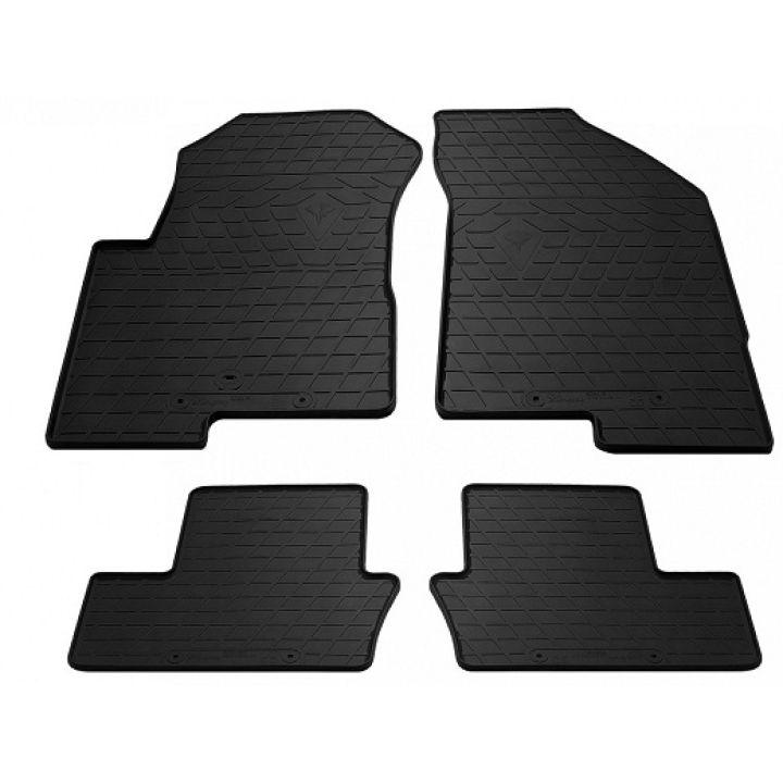 Коврики в салон для Dodge Caliber 2007-, резиновые черные  (Stingray)