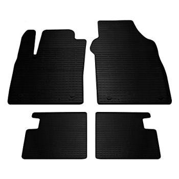 Коврики в салон для Fiat 500 2007-, резиновые черные  (Stingray)