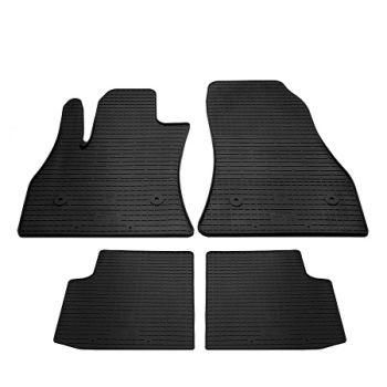 Коврики в салон для Fiat 500L 2012-, резиновые черные  (Stingray)