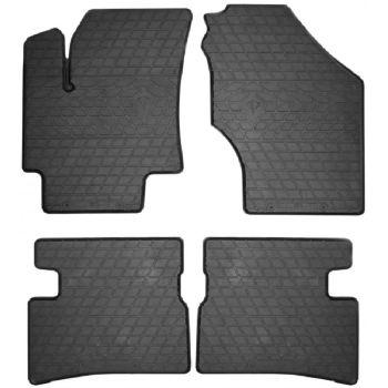 Коврики в салон для Hyundai Accent 2006-2010, резиновые черные  (Stingray)