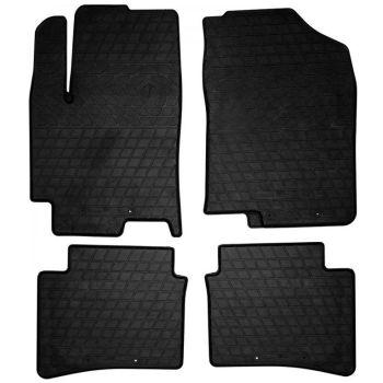 Коврики в салон для Hyundai Accent 2017-, резиновые черные  (Stingray)