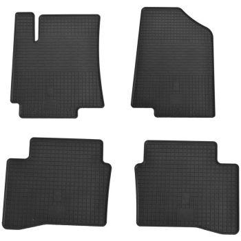 Коврики в салон для Hyundai Accent 2011-, резиновые черные  (Stingray)