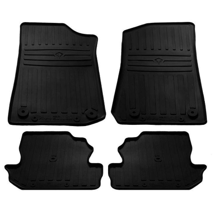 Коврики в салон для Jeep Wrangler '17- (2 дв.), резиновые черные  (Stingray)