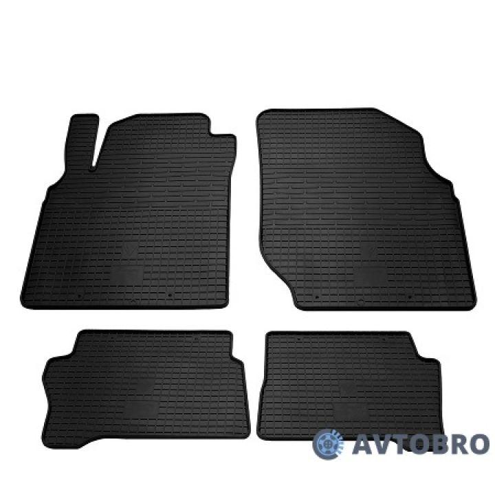 Коврики в салон для Nissan Almera Classic '06-13, резиновые черные (Stingray)