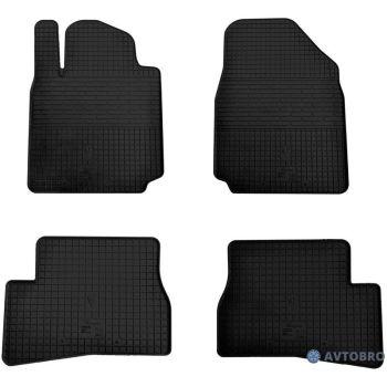 Коврики в салон для Nissan Micra '03-10, резиновые черные (Stingray)