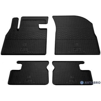 Коврики в салон для Nissan Micra '10-17, резиновые черные (Stingray)