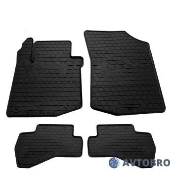 Коврики в салон для Peugeot 107 '09-14, резиновые черные (Stingray)