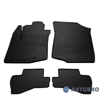 Коврики в салон для Peugeot 108 '14-, резиновые черные (Stingray)
