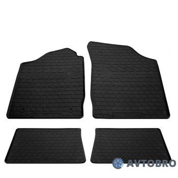 Коврики в салон для Renault Clio II / Symbol '01-12, резиновые черные (Stingray)