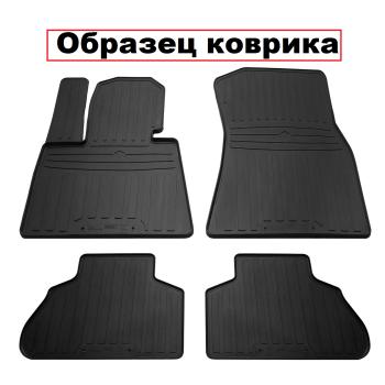 Коврики в салон для Nissan Navara '05-14, резиновые черные (Stingray)