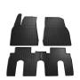 Коврики в салон для Tesla Model X '15-, резиновые черные (Stingray)