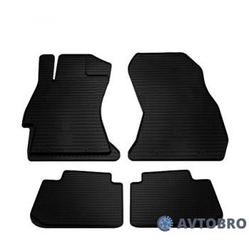 Коврики в салон для Subaru Forester '13-18, резиновые черные (Stingray)