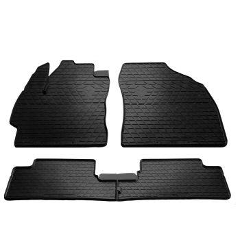 Коврики в салон для Toyota Auris '06-12, резиновые черные (Stingray)