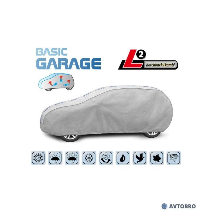 """Тент автомобильный для хетчбэка """"L2"""" 4.30см-4.55см """"Basik Garage"""""""