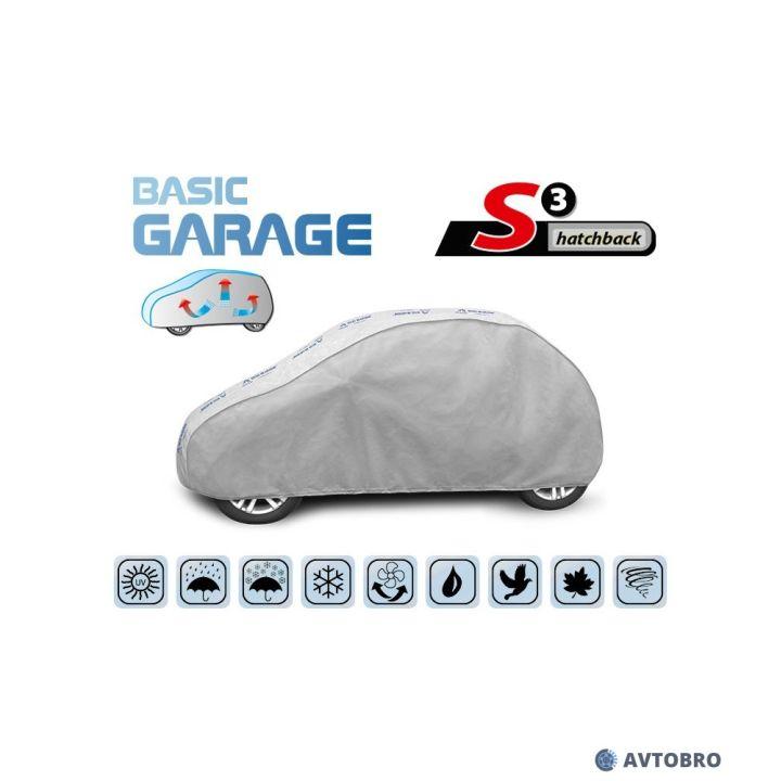 """Тент автомобильный для хетчбэка """"S3"""" 3.35см-3.55см """"Basik Garage"""""""
